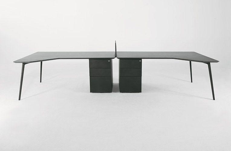 Tables Fly Avec Retour Et Caisson Table Fly Table Modulable Mobilier Bureau