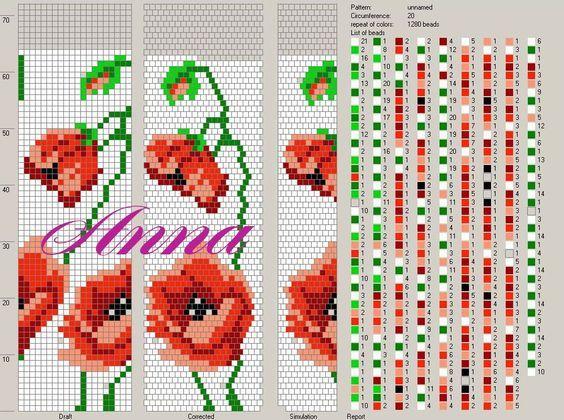 Pin von Anne Reuze auf Bead crochet patterns | Pinterest | Perlen ...