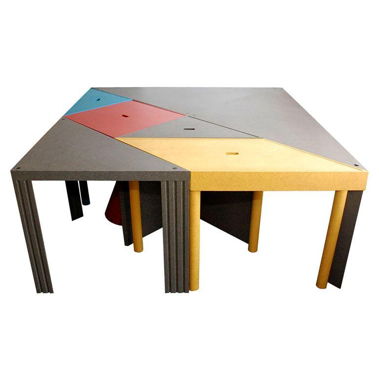 Massimo Morozzi Design.1stdibs Tangram Modular Dining Table By Massimo Morozzi