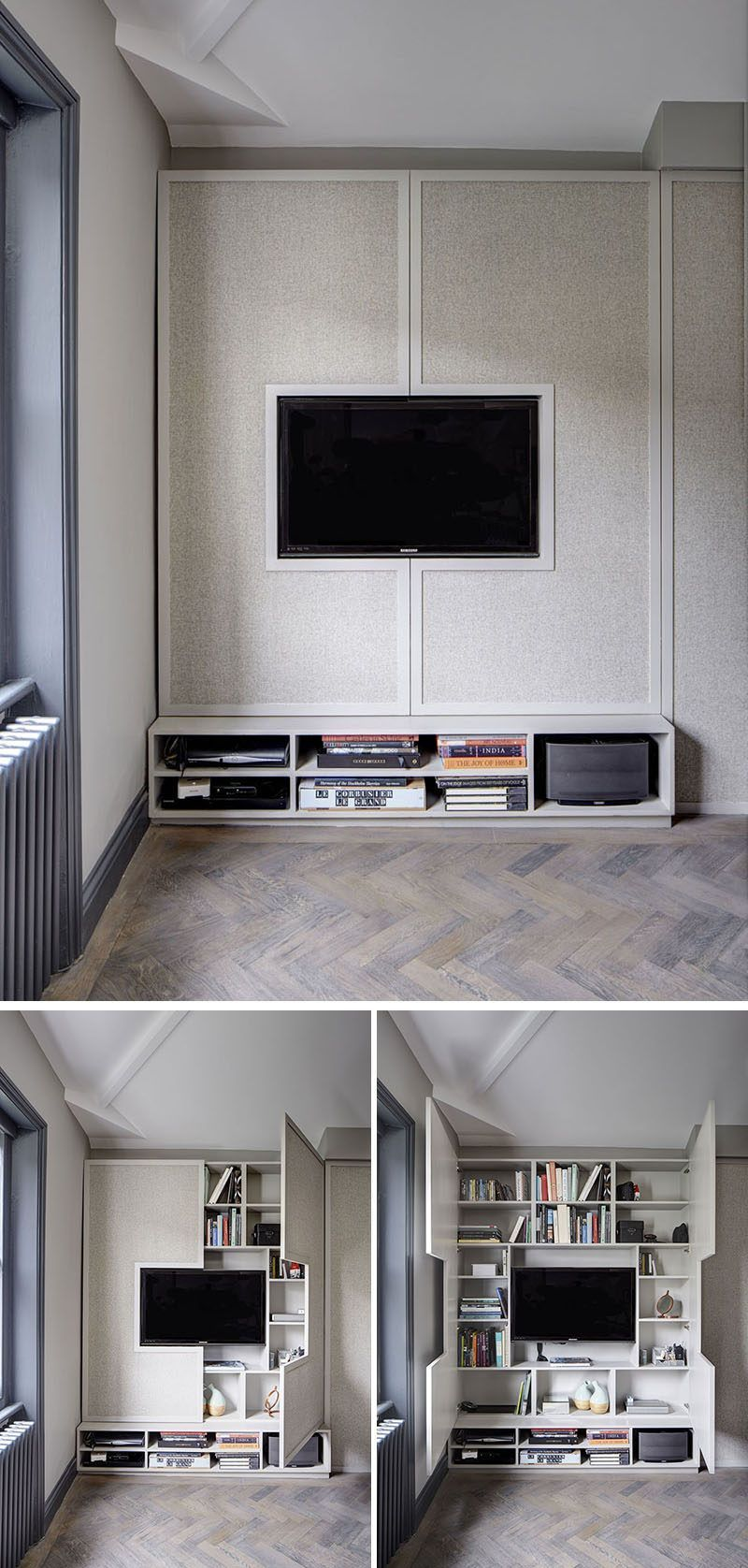 8 TV Wall Design Ideas For Your Living Room // Although this TV ...