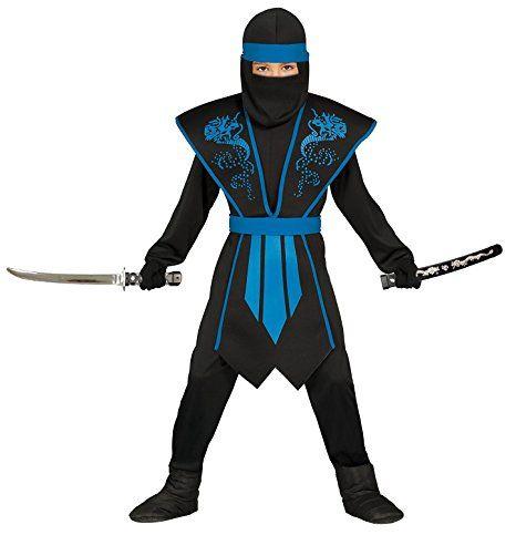 Ninja Kostum Kinder Blau Schwarz Mit Schicker Rustung Ninja Kostum