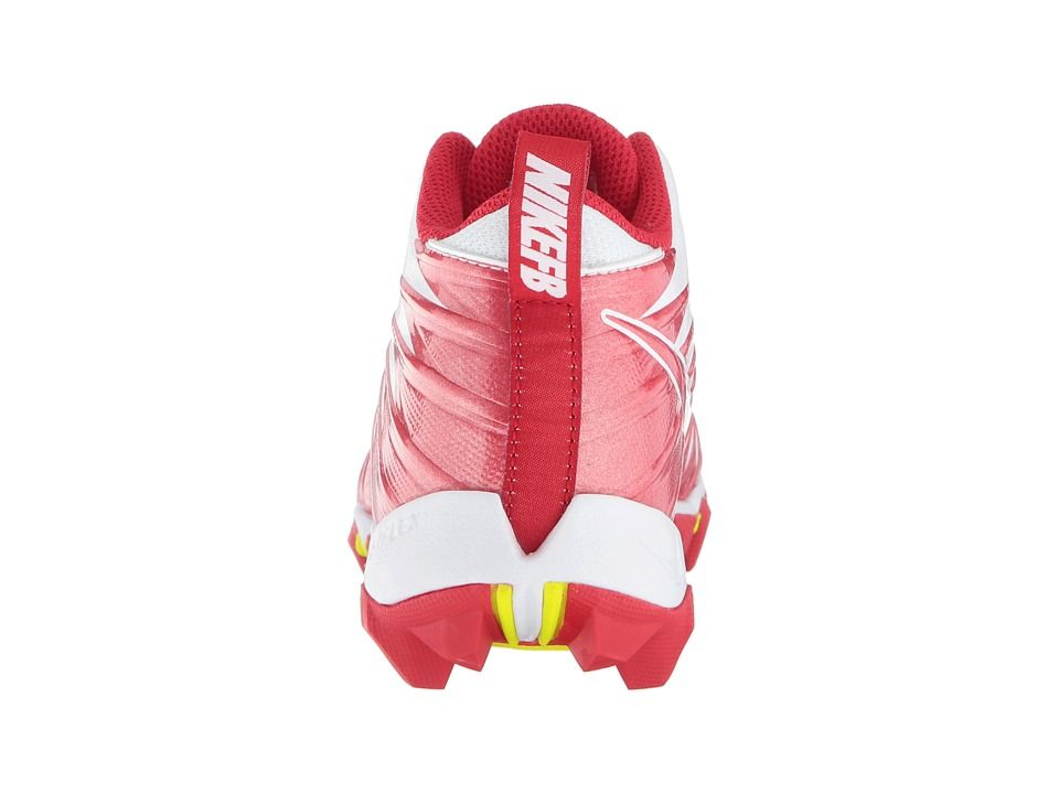 separation shoes f6140 392c0 Nike Kids Alpha Menace Shark Football (Toddler Little Kid Big Kid) Kids  Shoes White University Red University Red