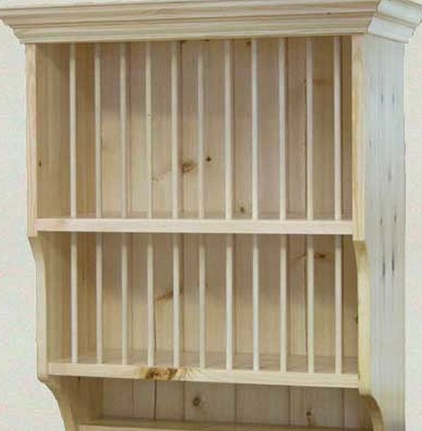 could DIY dish rack from a premade hutch? #plateracks