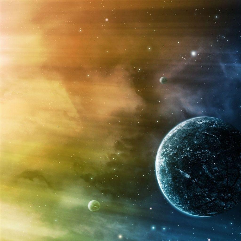 Gmail planets theme - Space Stars Planet Galaxy Ipad Air Wallpaper