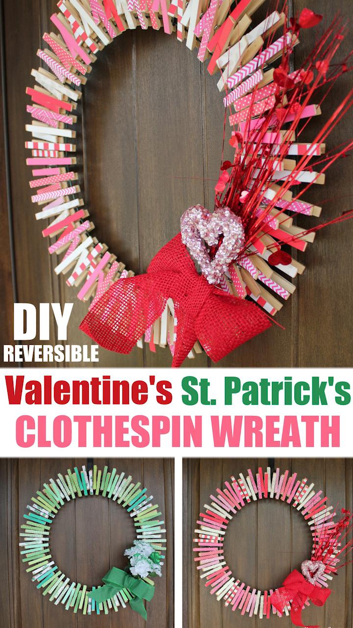 Photo of DIY Reversible Clothespin Wreath