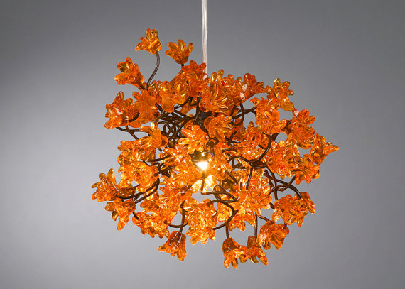 Chandeliers orange flowers childrens light fixtures pinterest chandeliers orange flowers mozeypictures Images