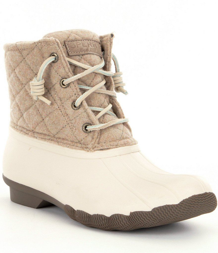 77808e989765 Oyster Oatmeal Sperry Saltwater Waterproof Duck Boots