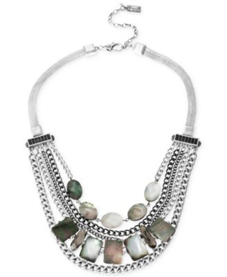 Kenneth Cole New York Silver-Tone Shell Multi-Chain Necklace