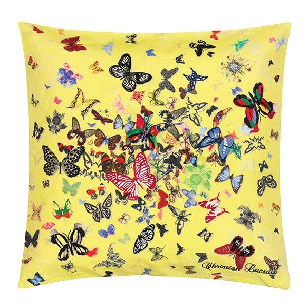 butterfly parade safran coussin christian lacroix 50x50. Black Bedroom Furniture Sets. Home Design Ideas