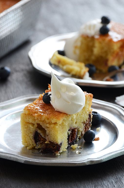 Golden Vanilla-Fig Cake...cake recipe based on a Cooking Light recipe for cornmeal pound cake!  So delicious.