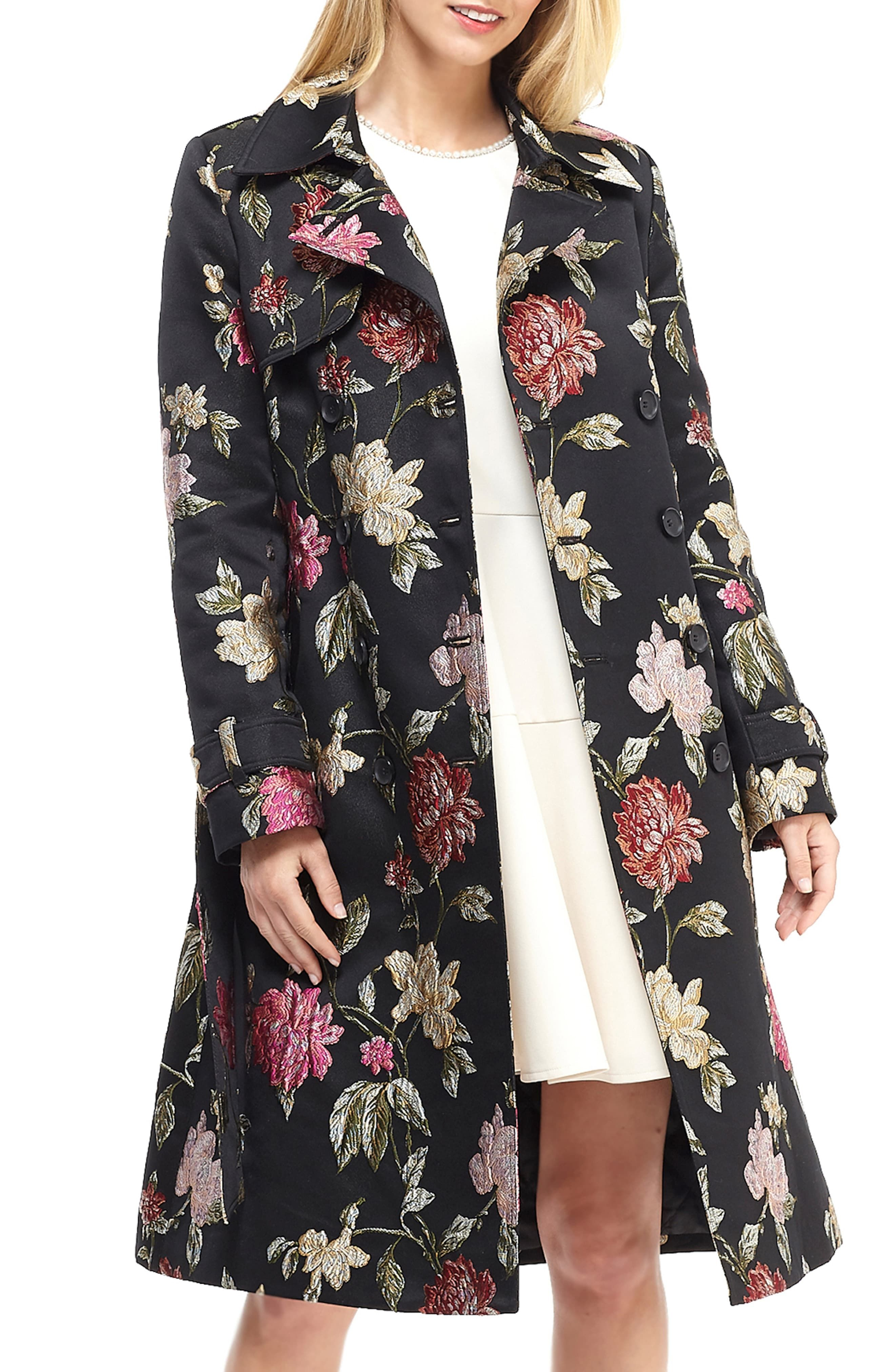jacquard mantel damen plus size