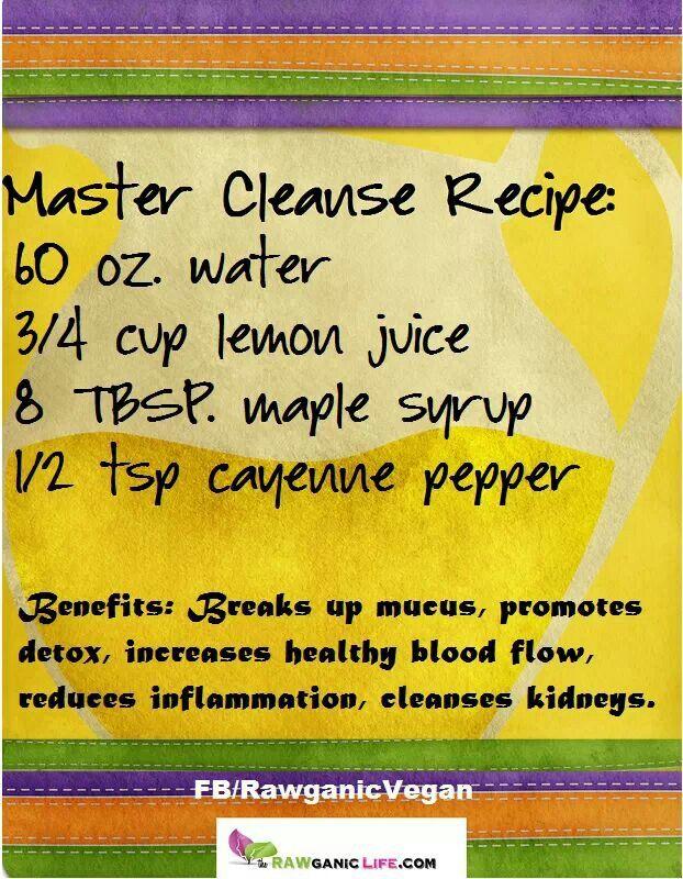 Master Cleanse Recipe Master Cleanse Recipe Cleanse Recipes