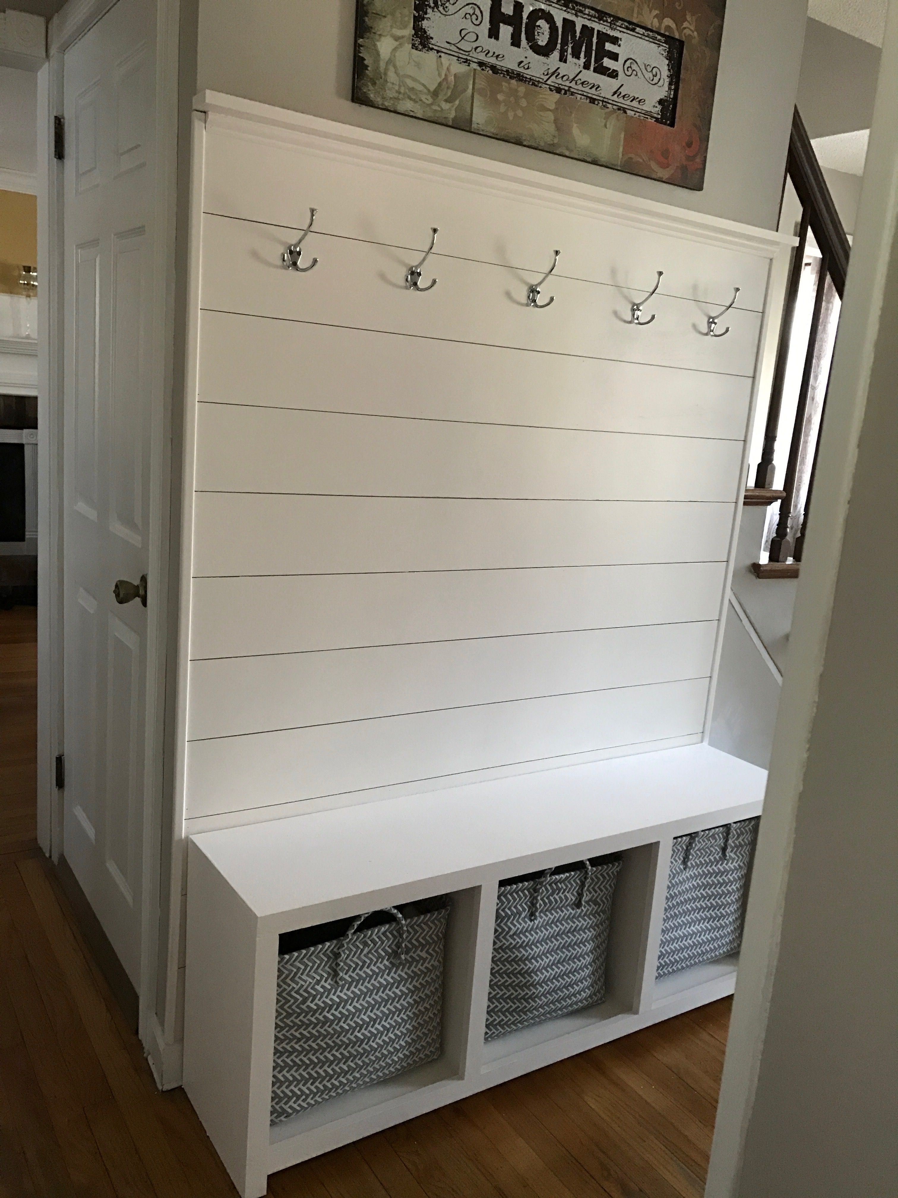 Wondrous Wanted To Spruce Up My Hallway Shiplap Wall And Entry Bench Beatyapartments Chair Design Images Beatyapartmentscom