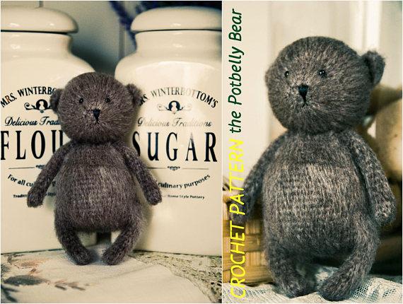 Easy Amigurumi Bear Pattern : Crochet bear pattern amigurumi bear pattern easy bear pattern