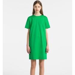 Photo of Outlet – Calvin Klein Kurzärmliges Kleid aus Baumwolltwill 48 Calvin KleinCalvin Klein