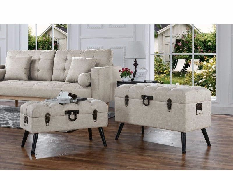 BEST PRICING FREE SHIPPING HIGH QUALITY Trunk Storage Bench Decorative  Storage Trunks Box Set Bench Table Bedroom Accent DETAILS This 2  Piece,decorative ...