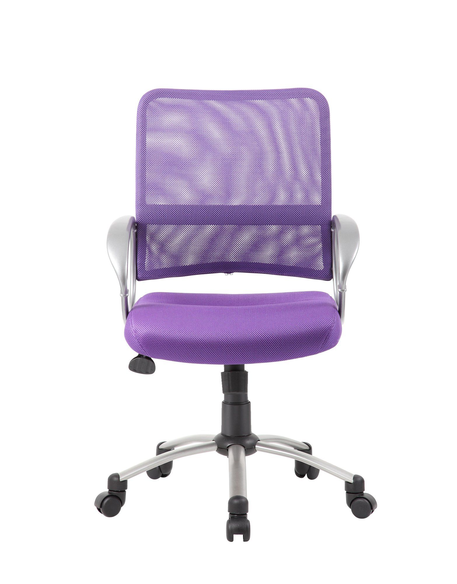 Adjustable purple breathable office chair chair white