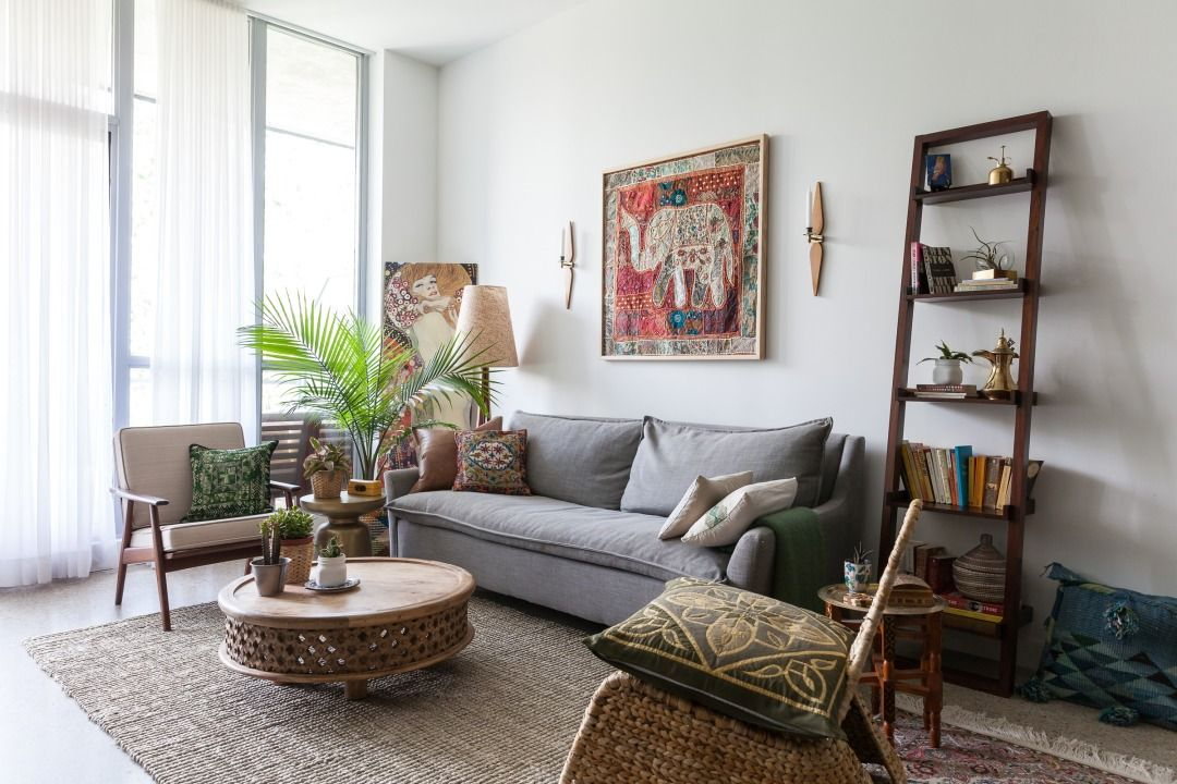 Get The Look Mid Century Global Eclecticism Living Room Designs