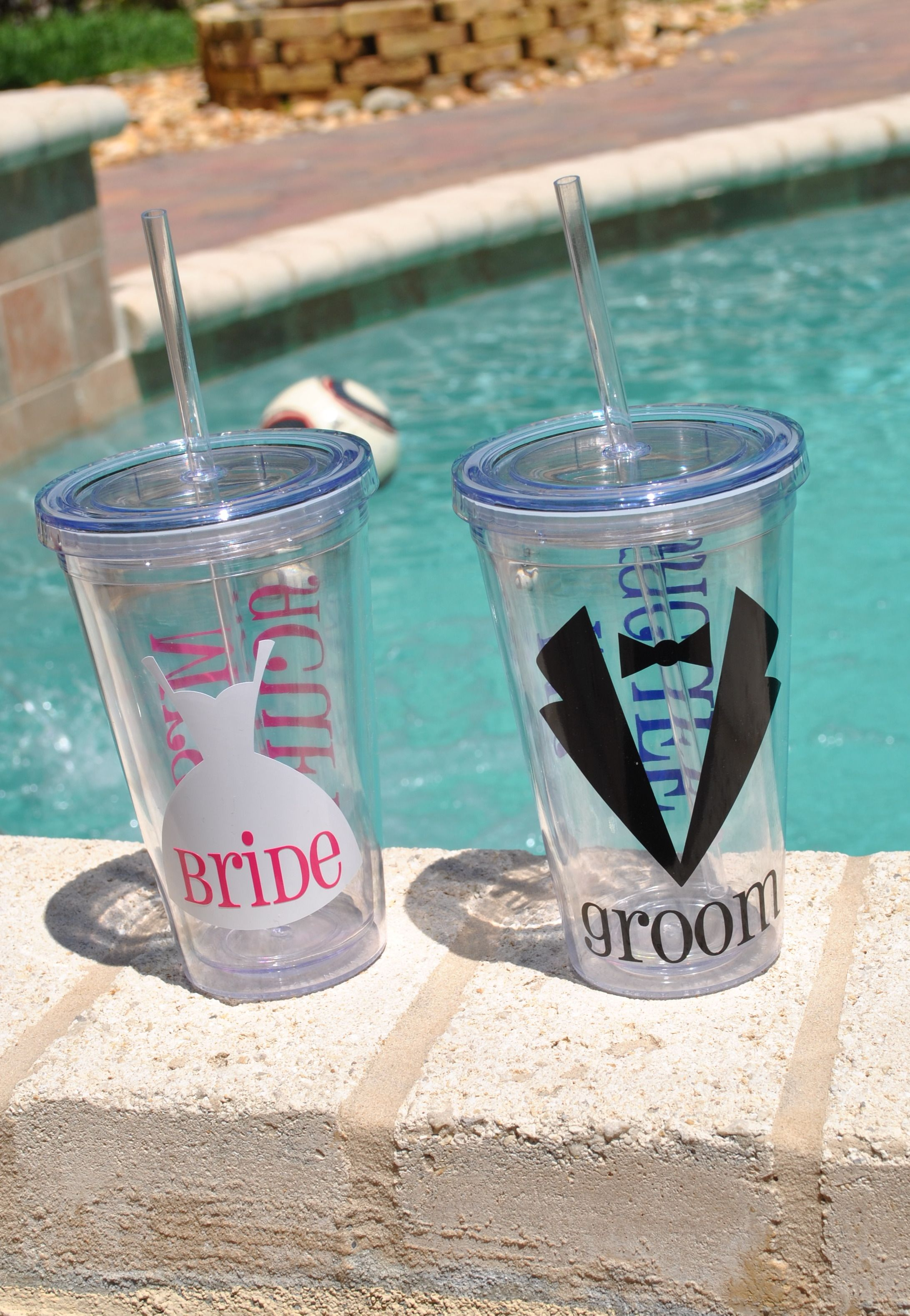 Bride And Groom Tumblers We Can Make Then For The Bridal