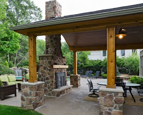 This Is About The Size Of Covered Outdoor Space We D Like It Should Be Large Enough Fo Rustic Outdoor Fireplaces Outdoor Covered Patio Rustic Outdoor Kitchens