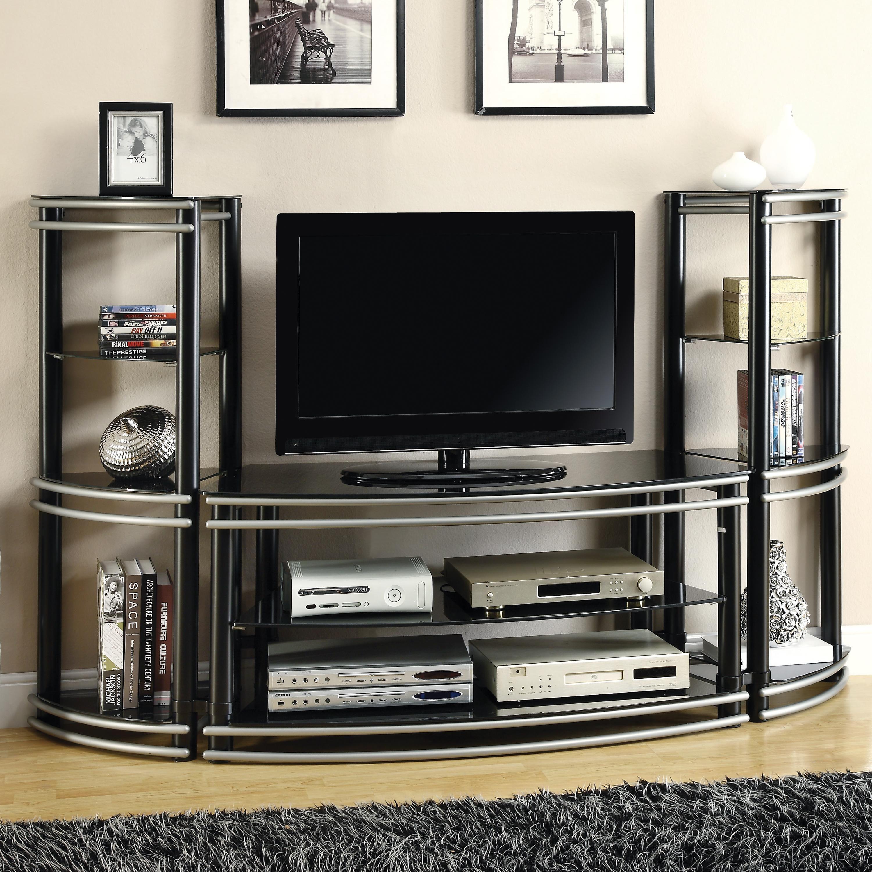 wall units demilune black silver finish
