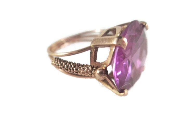Absolutely gorgeous vintage Egyptian ring Stunning 12k rose gold