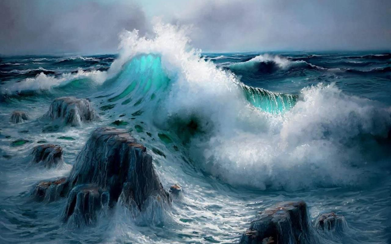 Ozean stil zimmer seascape digital paintings by andy simmons  water oceans