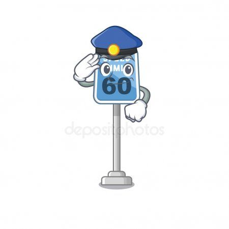 Police speed limit with the character shape  Stock Vector
