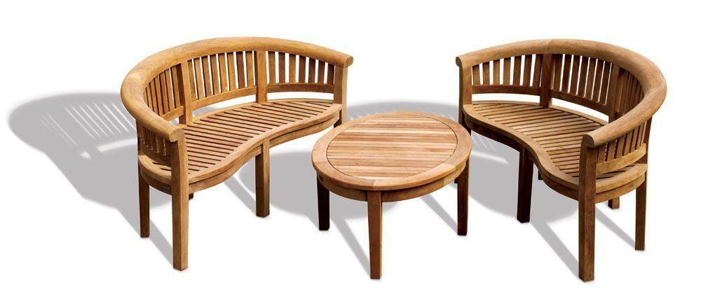 Banana Coffee Table Outdoor Assembled Garden Set No Cushions Jati Brand Quality Value Amazon Co Uk Kitc Garden Set Patio Benches Wooden Garden Benches