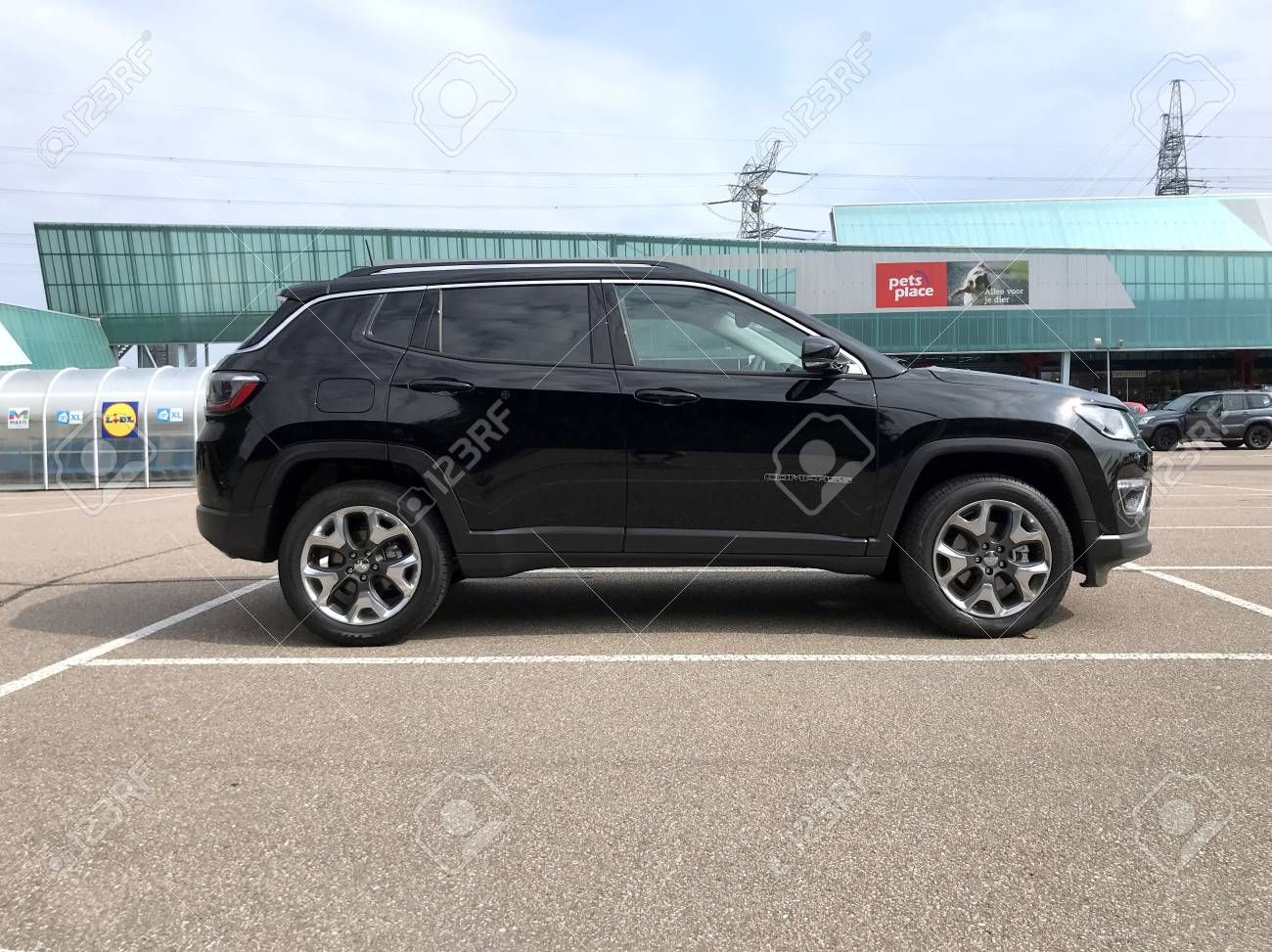 Diemen Netherlands June 9 2018 Black Jeep Compass Parked On A Public Parking Lot Nobody In The Vehicle Sponsore Black Jeep Jeep Compass Army Wallpaper