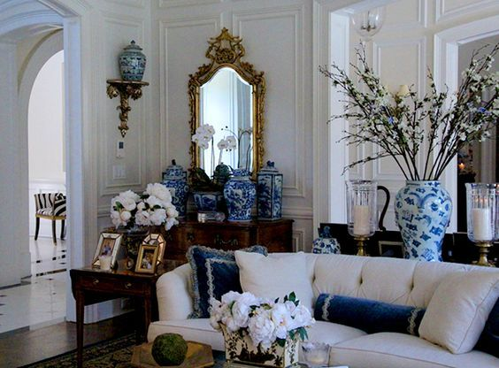 enchanting classic living room design ideas | I dream of: Another Visit To The Enchanted Home: | Living ...