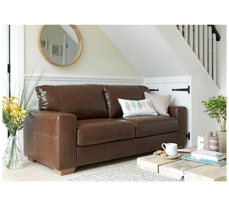Marvelous Buy Argos Home Eton 3 Seater Leather Sofa Tan Sofas Interior Design Ideas Skatsoteloinfo