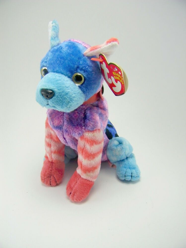 a0d0320ed78 Hodge Podge the Dog Ty Beanie Babies Blue Red Stuffed Animal Toy 6