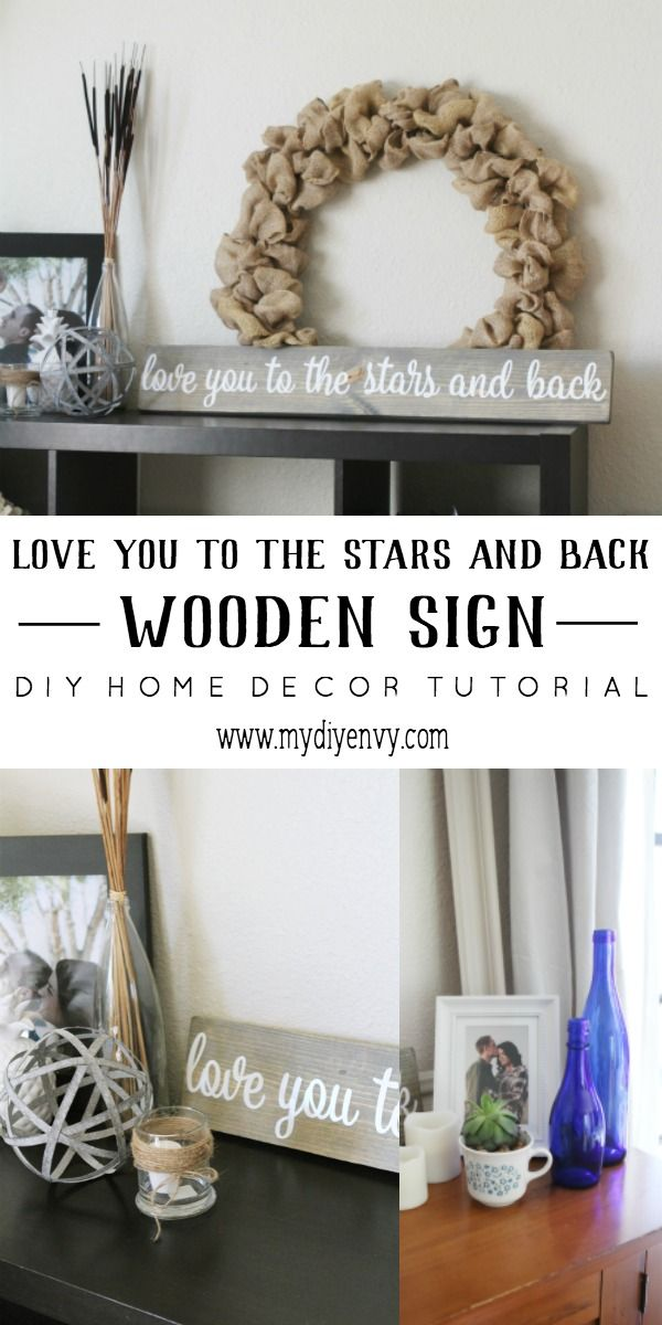 Love you to the stars and back wooden sign tutorials star and wedding love you to the stars and back diy wooden sign tutorial great for wedding decor junglespirit Gallery