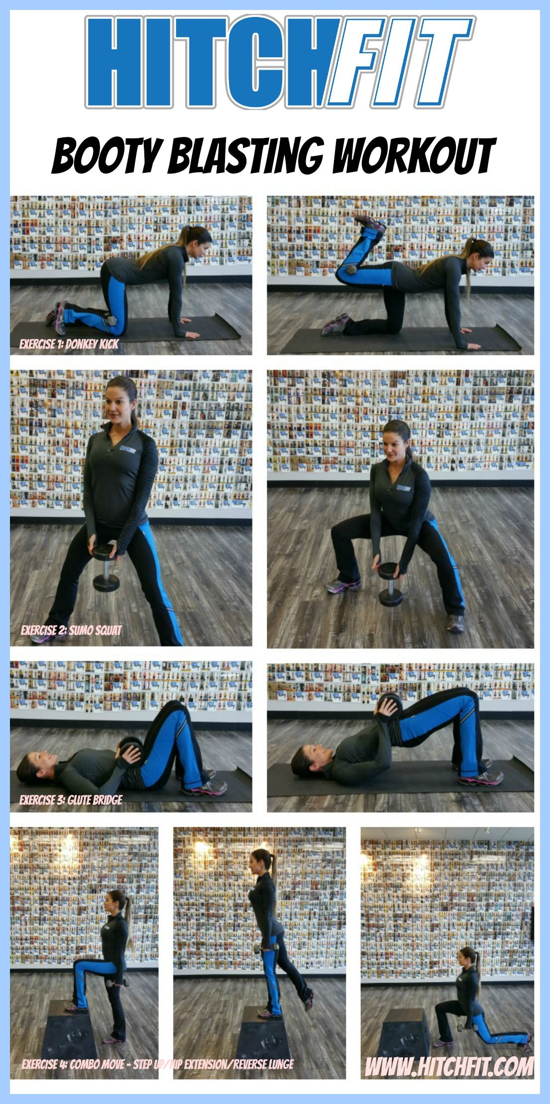 Booty Blasting Workout! – 4 GREAT GLUTE EXERCISES