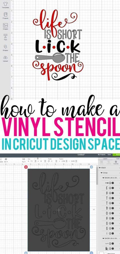 How to Make a Vinyl Stencil in Cricut Design Space #cricutvinylprojects