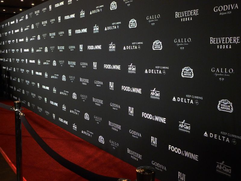 Step And Repeat Background For Party Or Wedding Guests