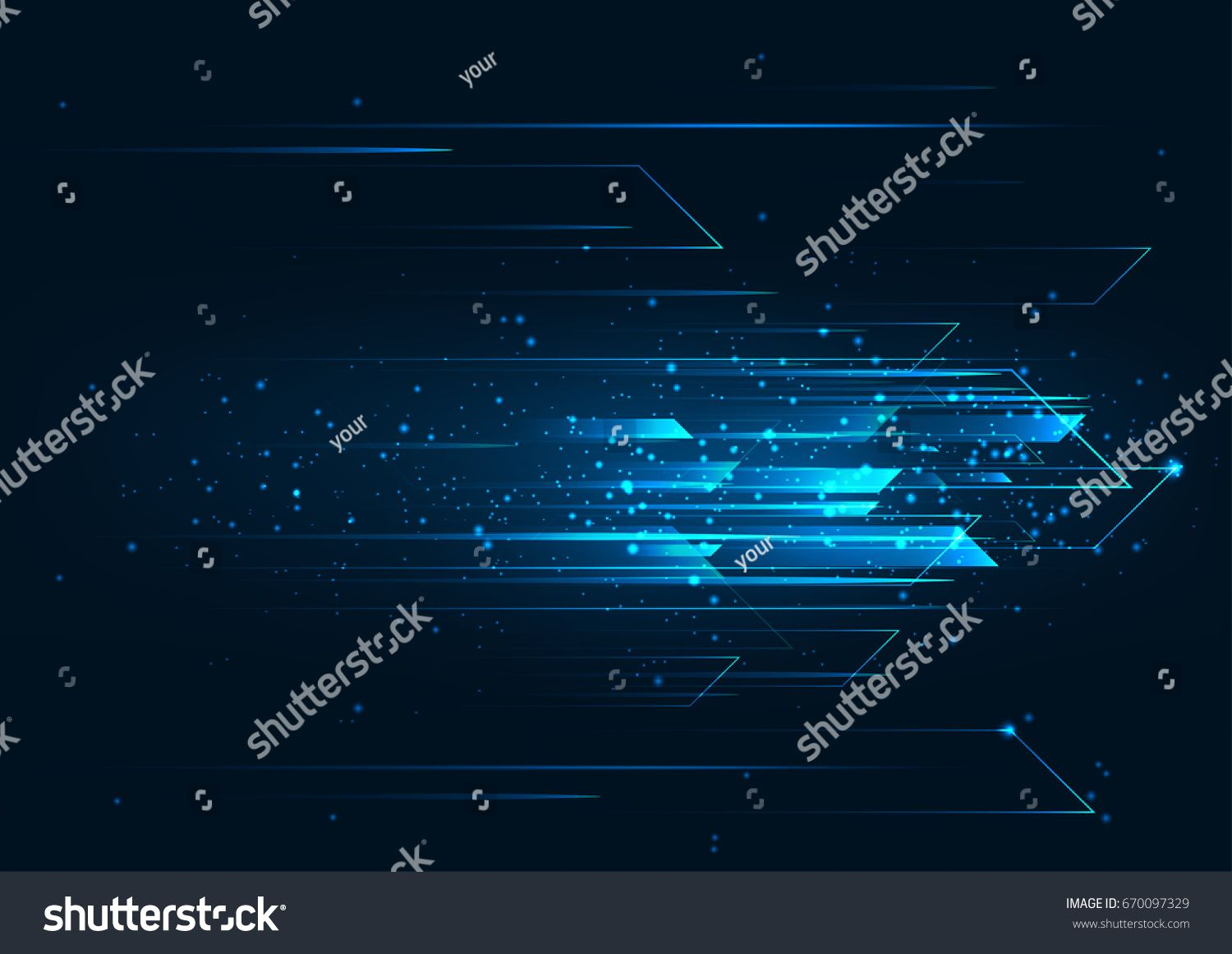 High Speed Hi Tech Abstract Technology Background Concept Speed