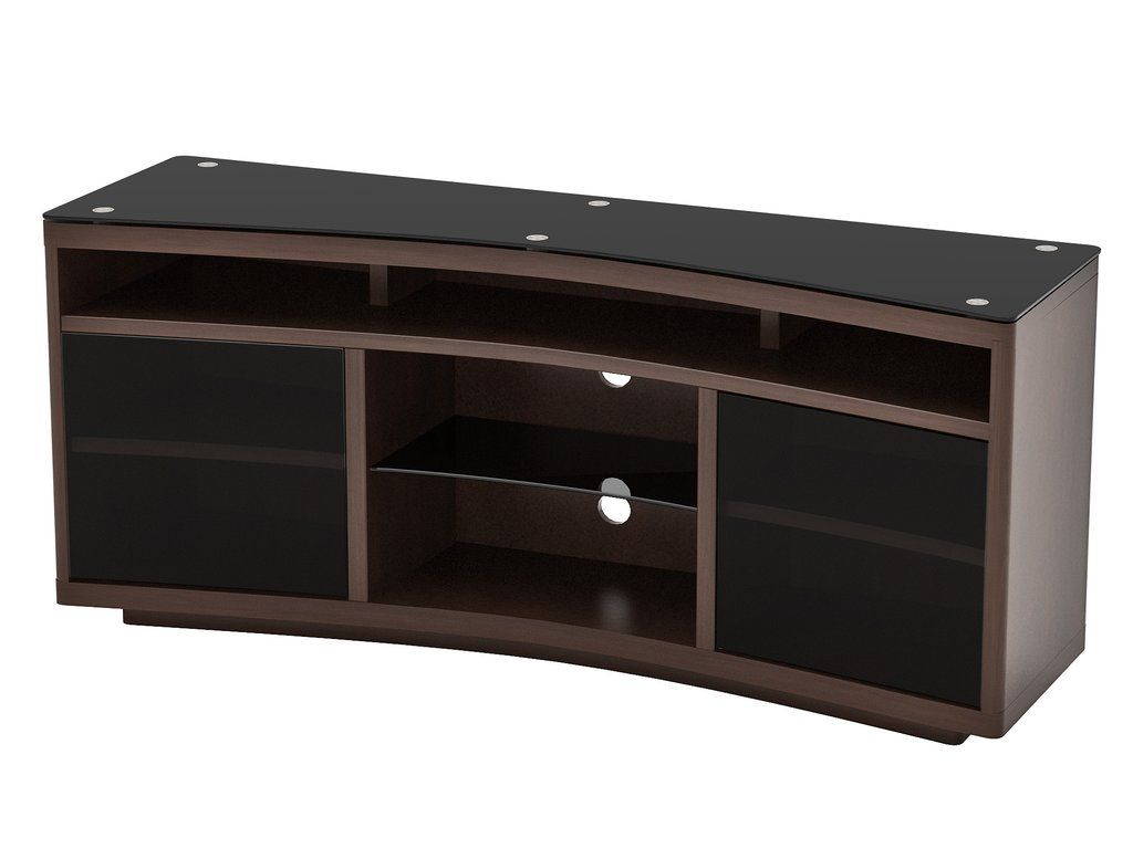 Designed For The Samsung Curved TV Series Details All Wood Veneer TV Stand  In Espresso Finish Contemporary Styling With A Curved Front And Curved  Glass ...