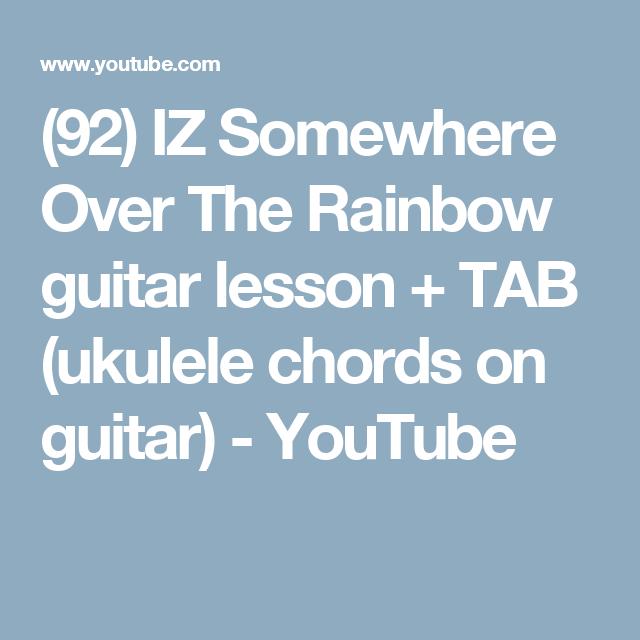 92 Iz Somewhere Over The Rainbow Guitar Lesson Tab Ukulele