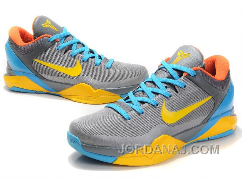 info for 9173f 10610 httpwww.jordanaj.comnike-zoom-kobe-bryant-7-generations-gray-blue-yellow-nzh0583.html  NIKE ZOOM KOBE BRYANT 7 GENERATIONS GRAY BLUE YELLOW NZH0583 ...
