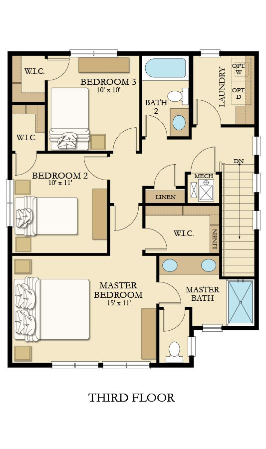 The mesa model home in happy valley oregon third floor take one more set of also stylish sq ft new bedroom kerala design with plan rh pinterest