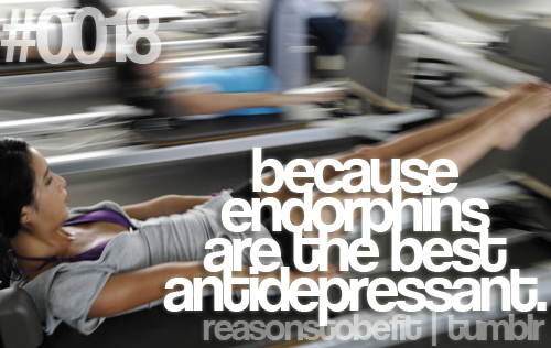 Endorphins. This is so true, it works for me!