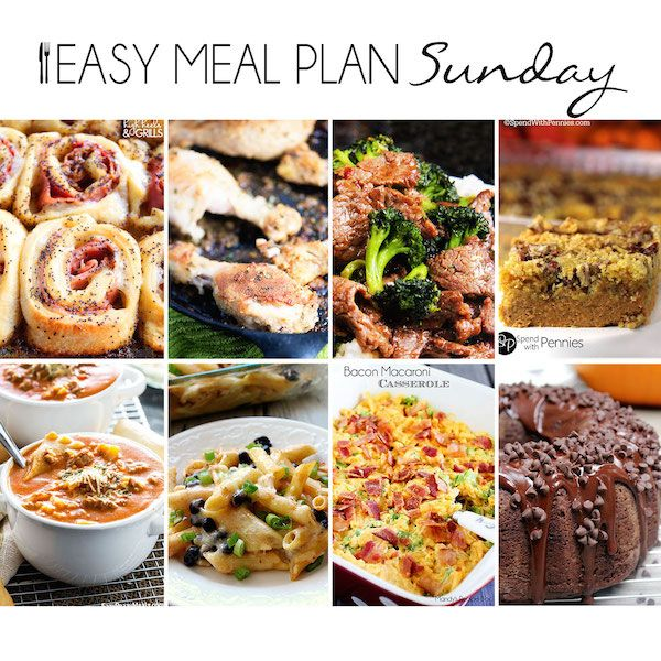 Use our Easy Meal Plan to help you find dinner, dessert, and breakfast recipes to feed you or your family for the entire week!