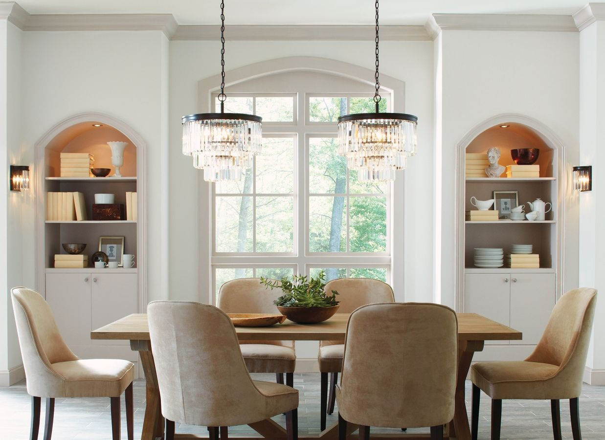 How Chandeliers Set The Tone In Your Dining Room Elegant Dining