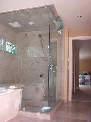 Shower Door The Door And Steam Transom Operate On Swing And Swivel