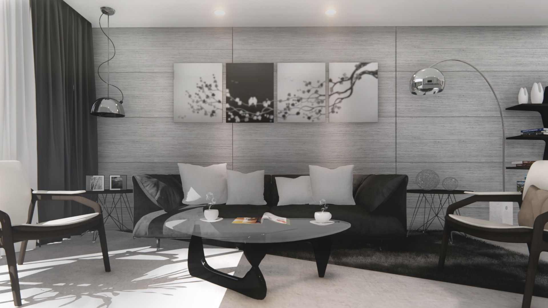 SketchUp Texture: Modern Concrete Living Room - Anthony Lie ...