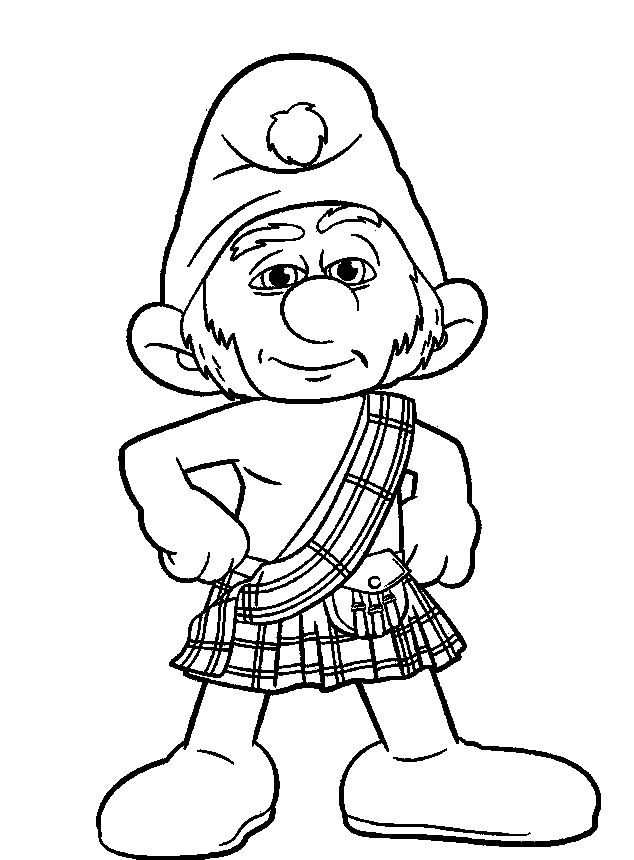 Gutsy Smurf Cool   Disney coloring pages, Cool coloring ...