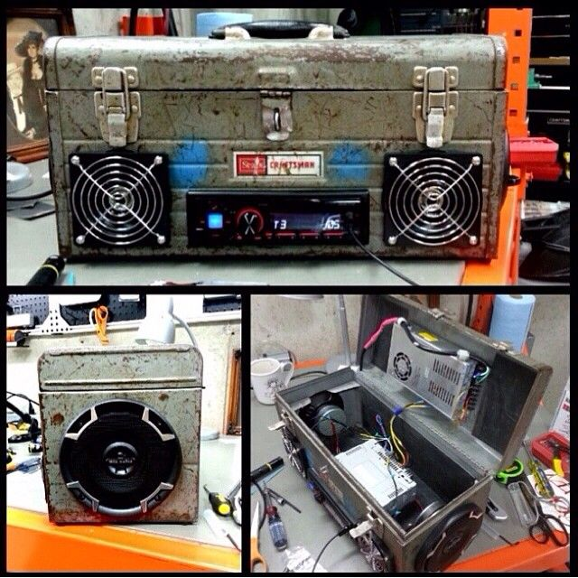 custom craftsman tool box with mtx audio speakers | other cool mtx ...
