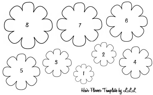 Baby Hair Flowers With Images Flower Templates Printable